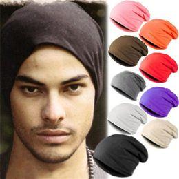Wholesale Orange White Crochet Hats - Wholesale-Winter Warm Unisex Knitted Ski Crochet Slouchy Hat Cap for Women Men Beanies Hip Hop Hats