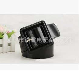 Wholesale Winter Women Dresses Korean Fashion - Wide Black Ladies Belt Waistband Patent Leather Belt All-match Slim Thin Korean Women Waist Belt Dress Accessories Hot Winter