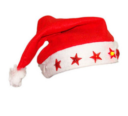Wholesale cute snowman plush - Christmas Cosplay Hats Soft Plush LED Santa Claus Snowman Deer Hats For Kids Gift Cute Adults Christmas Cap Christmas Party Supplies