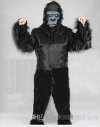 Wholesale Gorilla Adult Costume Mascot - 100% real images Black gorilla Mascot Costume Adult Size Cartoon Character Carnival Party Outfit Suit Fancy Dress