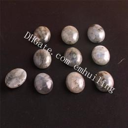 Wholesale Labradorite Oval - Smooth Oval Flatback Natural Labradorite Cabochon Gemstones Fine Quality Loose Spectrolite Semi Precious Stones Healing Gems Beads Wholesale