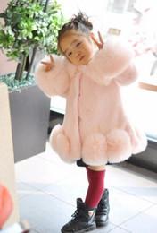 Wholesale White Mink Collar - Children fur coat girl autumn and winter 2017 new Korean version of imitation mink fox fur thickening