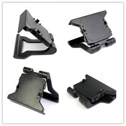 Wholesale Tv Clip Kinect - New Arrive TV Clip Clamp Mount Stand Holder for Microsoft Xbox 360 Kinect Sensor Mini Adjustable Support For Movement Sensors