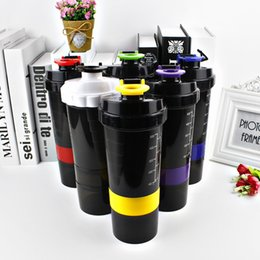 Wholesale Mixing Drinks - New Spider protein shaker 3 in 1 Sports water bottle with inserted mixing ball 6 Color 500ml wa4121