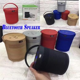 Wholesale Holder Radio - Multifunction Mini Bluetooth Speakers With Cell Phone Holders Stanf 3D Subwoofers Support FM Radio TF Card USB Disk