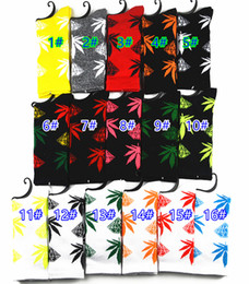 Wholesale Diamond Huf - MOQ 10pairs Diamond Crew Socks leaf Skateboard hip hop socks Leaf Maple Leaves Stockings Cotton Unisex Plantlife Socks