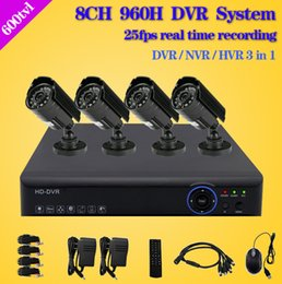 Wholesale Time Recording Surveillance Camera - dvr 8 channel with camera cctv video surveillance system 8ch full 960h real time recording for home security monitor kit