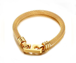 """Wholesale Indian Lucky - Stainless Steel Lucky Number 6 9 Charm Mesh Chain Bracelet 7.5"""""""