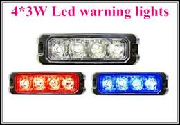 c2 luzes Desconto Alta intensidade 4 * 3W Car / truck luzes de emergência externas, lightheads montagem de superfície, luz de advertência Strobe, à prova d 'água