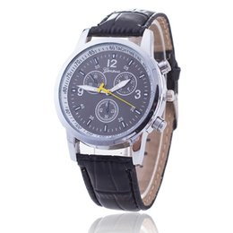 Wholesale Geneva Classic - Wholesale Splendid Luxury Fashion geneva watch mens Casual Classic Analog Quartz Leather band wrist watches Creative business for women