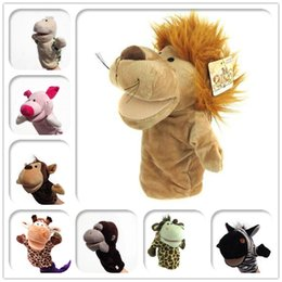 Wholesale Jumping Animals Toys - 10pcs lot 25cm Plush toys Hand Puppet Winnie The Pooh Jumping Tiger Plush Toys Cute Cartoon Animal PP Cotton Doll For Baby