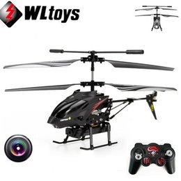 Wholesale Radio Helicopter Toy - Wltoys 3.5 CH Radio Remote Control Helicopter Metal Gyro RC Quadcopter With Camera Electronic Toy Professional Mini Drones