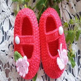 Wholesale Cheap Toddler Girls Sandals - crochet baby sandals sale!butterfly like flower girl toddler shoes for summer,hot cotton cheap shoes,baby wear.