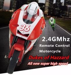 Wholesale Motorcycle Motor Toys - RC Motorcycle Toys 2.4G 3CH 1 20 Scale Mini RC Motorcycle Super Cool Toy Stunt Car electric motorcycle
