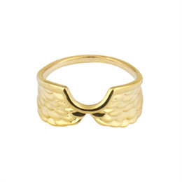 Wholesale Gold 18k Rings Wings - Wholesale 10Pcs lot Hot Sale 2017 New Fashion Angel Wings Rings Simple Jewelry Gold Filled Feather Midi Rings Birthday Gifts