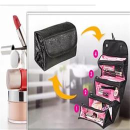 Wholesale N Handbags - Roll N GO Cosmetic Makeup Bag Women Fashion Handbag Toiletries Hanging Organizer Travel free shipping 2017101118
