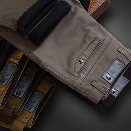 Wholesale Dark Grey Work Pants - 2017 Brand Men's Casual Long Work Pants Winter Warm Plush Cotton Thick Straight Trousers Men Work Wear Pants Plus Velvet