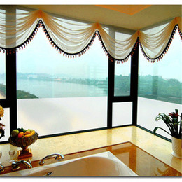 Wholesale Light Meter Film - 1 meter 30cm Width Light Through Frosted Films Bathroom Office Privacy Protection Self Adhesive Solid Glass Window Door Stickers Cut