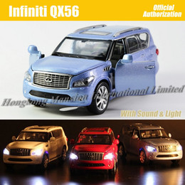 Wholesale Luxury Toys For Kids - 1:32 Scale Diecast Alloy Metal Luxury SUV Car Model For Infiniti QX56 Collectible Model Collection Toys Car With Sound Light
