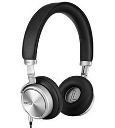 Scatola al minuto originale della cuffia avricolare online-All'ingrosso-originale MEIZU HD50 cuffie HiFi auricolare ad alta fedeltà Sound Bass 3.5mm shell in lega di alluminio Headset per MX4 / 5 / scatola al minuto