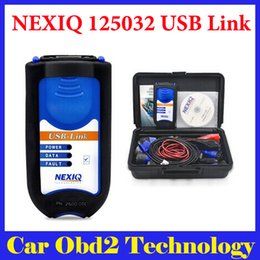 Wholesale Diagnostic Tools Trucks - 2015 New Arrival NEXIQ 125032 USB Link + Software Diesel Truck Diagnose Interface and Software NEXIQ truck diagnostic tool by DHL Shipping