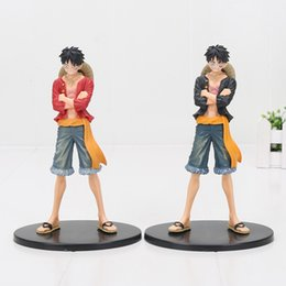 poupée luffy une pièce Promotion 17 cm 2 styles One Piece Monkey D Luffy Jeans Freak PVC Action Figure Collection Modèle Jouet poupée