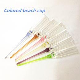 Wholesale Wave Clamp - Multicolour Beach cup Acrylic goblet cocktail KTV bar supplies