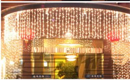 Wholesale Curtains Best Wedding Decoration - Best Sales10M *1M LED Curtain Lights String 448 leds Backdrop Christmas Party Wedding Holiday Decoration Xmas Fairy Lights AC110V-220V