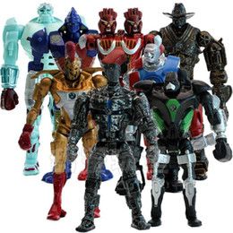 Wholesale Good Year Golds - 8pcs set Real Steel PVC Action Figures Collectible Model Dolls Toys Kids Gifts KT477