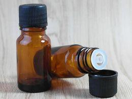 Wholesale Bottles For Medicine - 10ml Clear Brown Glass Bottle Wholesale Small Empty Bottle for Medicine or Essential Oils Amber Storage Bottle