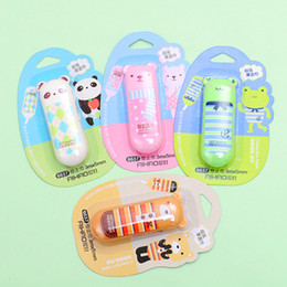 Wholesale Bear Stationery - Wholesale-1 Pcs 3m X 5mm Cute Kawaii Aihao Animal Panda Bear Frog Correction Tape School Office Supplies Stationery Kids for Children