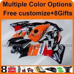 Wholesale Honda Cbr125r Fairings - 23colors+8Gifts REPAOL ORANGE motorcycle cowl for HONDA CBR125R 2004-2005 04 05 CBR 125R 04-05 ABS Plastic Fairing