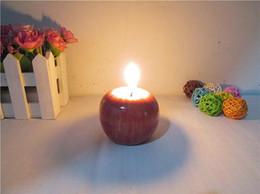 Vintage Apple bougie Home Docor romantique décorations Apple bougies parfumées anniversaire bougies de noël de fête de mariage saluer cadeaux 8 * 8 * 6.5cm ? partir de fabricateur