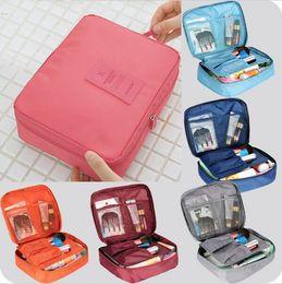 Wholesale Women S Fabric Handbags - Wholesale- New 2015 oxford multifunction make up organizer bag women cosmetic bags outdoor travel storage fashion handbag Free shipping