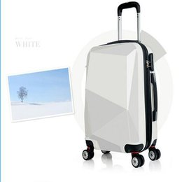 Wholesale Suitcase Abs - Wholesale-Free shipping ABS+PC film Trolley luggage travel suitcase boarding with code box 20 24 28 inches unisex rolling luggage