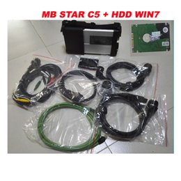 Wholesale Car Suport - 2017 Hot selling mb star c5 sd connect with software 2017.07 hdd 500gb suport wifi win7 system for Cars & Trucks free shipping