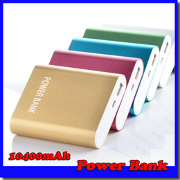 Wholesale External Portable - 10400mAh portable power bank external battery emergency battery for mobile phone tablet pc ipad