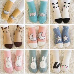 Wholesale Newborn Ankle Socks - Baby Socks Toddler Cotton Cartoon Socks Anti-Slip Floor Socks Newborn Animal Print Ankle Sock Fashion Summer Footwear Kids Clothing B2647