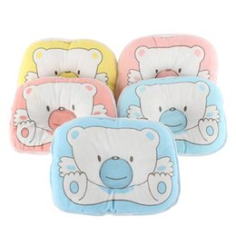 Wholesale Kids Head Pillow - Bear Soft Cotton Kids Baby Pillow Sleep Positioner Prevent Flat Head Pillow Wholesale for Free Shipping