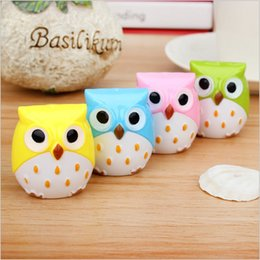 Wholesale New Electric Knife - Wholesale-Kawaii Owl Pencil Sharpener Cutter Knife Promotional Gift Stationery