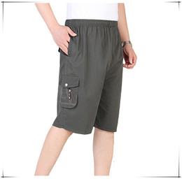 Wholesale Capri Beach Pants - Wholesale-2016Summer Man Short Pants Large Plus Pants Loose Comfortable Beach Shorts Board Capri Cotton Calf-Length Sport Casual Trousers