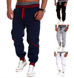 Wholesale Dance Jogging - Joggers Pants For Boys Track trousers Basketball Sport Jogging Pants Hip Hop Gym Jogger Dance Slacks Harem Baggy Striped Sweat Pants