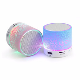 Wholesale usb sound card microphone - Hot Mini Bluetooth LED Light Speaker S08U Portable Speakers Suppor Hands-free Calls Volume Control TF Card Music Playing Built-in Microphone