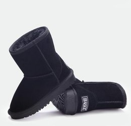 Wholesale Kids Brown Boots Girls - Free shipping Real Australia High-quality Kid Boys girls children baby 59-91 warm snow boots Teenage Students Snow Winter boots 1 PAIR