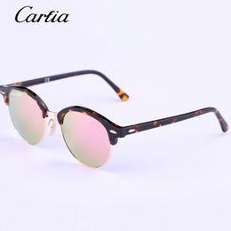 Wholesale Round Frame Wholesale Glasses - Carfia 2016 New Arrival sunglasses Brand Desingner 4246 Fashion sunglasses men sunglasses women Top quality Multi-color mirror lens glasses