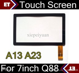 Wholesale Display Tablet Pc Mid - DHL 50PCS Brand New Touch Screen Display Glass Replacement For 7 Inch Q88 A13 A23 Tablet PC MID TC1