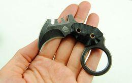 Um karambit aus on-line-Faca de Sobrevivência O Um Mini-Garra Karambit Mantis Pente AUS-8 59HRC Lâmina Fixa Faca de Caça Tacitcal Faca de Presente de Natal F466L