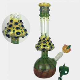 Wholesale Mushrooms Pipe - 2016 Mushroom glass beaker bong zob hitman Water pipes colored pink colorful hand made dab rigs oil heady bongs pipe with 4 accessorie bowl