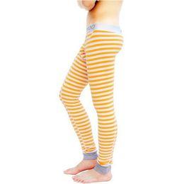 Wholesale Lower Pajama - Wholesale-Lycra Cotton Striped Men's Long Johns Thermal Underwear Men Low-waist U Convex Elastic Pouch Lounge Pajama Pants Basic
