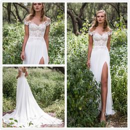 treno vestito da dea Sconti Abiti da sposa da sposa in chiffon bianco con spalline in tulle con spalline in tulle